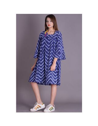 Blue Shibori Potli Dress