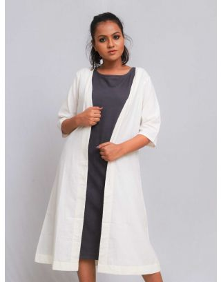 White Casual Long Shrug