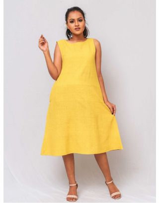 Mustard A-Line Shift Dress