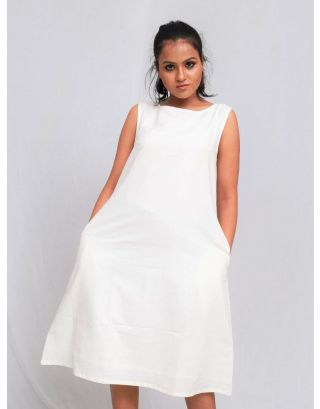 White A-Line Shift Dress