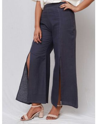 Navy Blue Flared Trouser