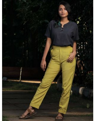 Mustard Slim Fit Trouser