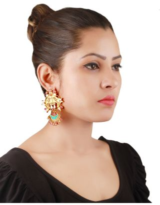 Gold Filled Designer Silver Earrings