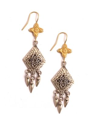 Golden and Silver Statement Earrings