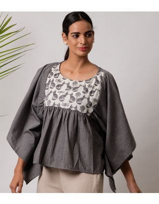 Grey Fox Printed Top