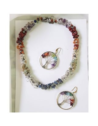 Handmade Multicolor Stone Necklace Set