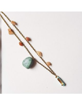 Orange and Blue Stone Neckpiece