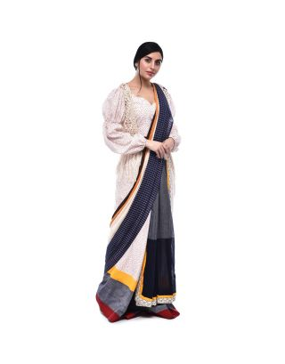 Skirt Pleated Two Layered Saree