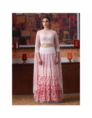Pink Sequins Embroidered Lehenga Set