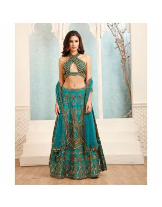 Dark Green Lehenga Set
