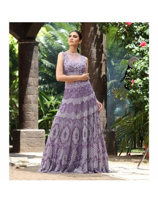 Lilac Embroidered Lehengha Set