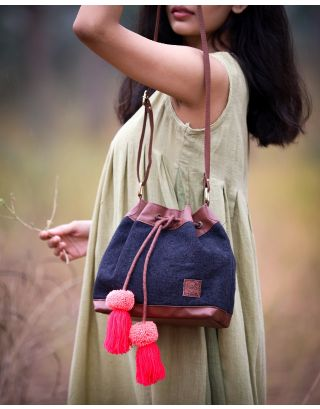 Smoky Black Bucket Bag