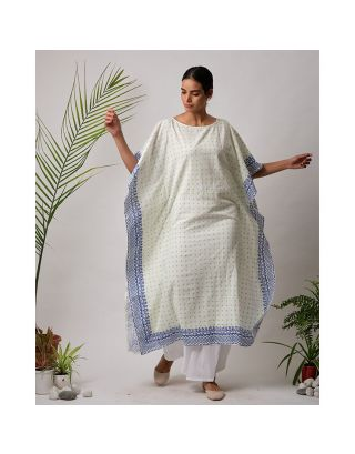 White and Blue Kaftan