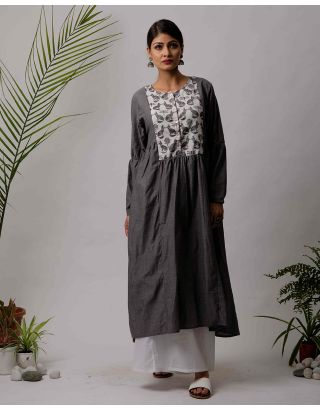 Grey Fox Printed Kurta and Palazzo Set