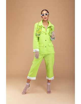 LIME GREEN CO-ORD SET