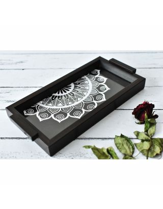 Handcrafted Wooden Black Tray