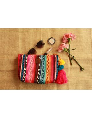 Striped Rainbow Multipurpose Pouch