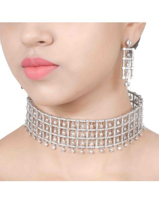 Diamond Choker Set