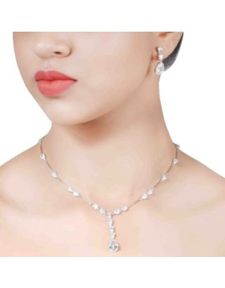 White Zirconia Necklace Set