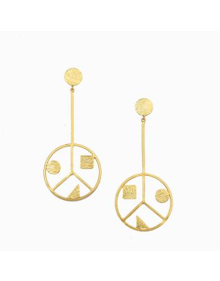 Golden Peace Danglers