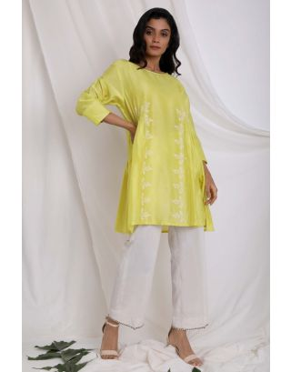 Green Block Printed Tunic