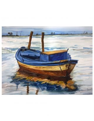 The Boat Watercolour Painting