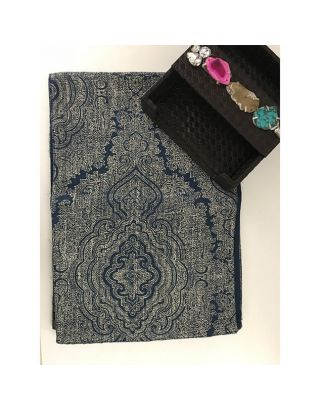 Blue Baroque Printed Runner
