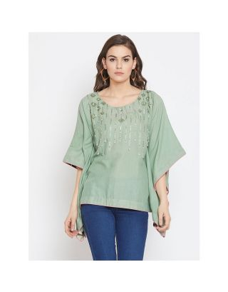 Light Green Embroidered Top