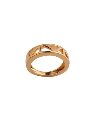 Golden Triangle Love Band Ring
