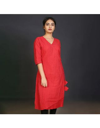Red Angarkha Tunic