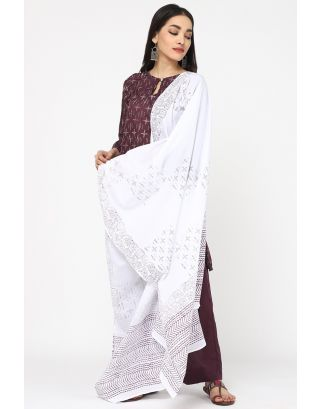 Sky Cotton Printed Dupatta