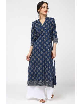 Blue Eye Catching Kurta