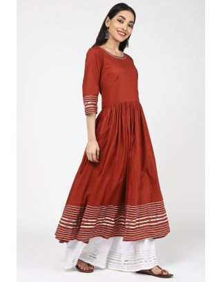 Red Anarkali Kurta