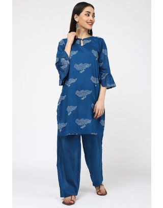 Blue Bird Printed Kurta Set