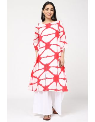 Ruby RED Printed Kurta