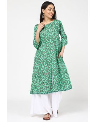 Light Green Printed Kurta