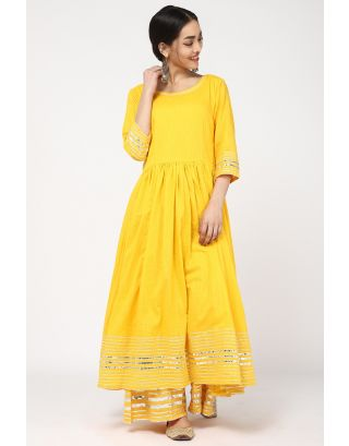 Yellow Anarkali Kurta