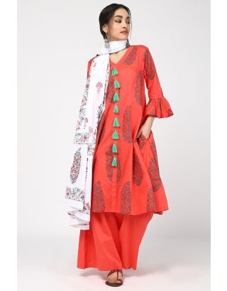 Herb Printed Cotton Dupatta