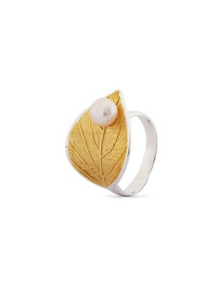 Gold Plated Feuille Ring