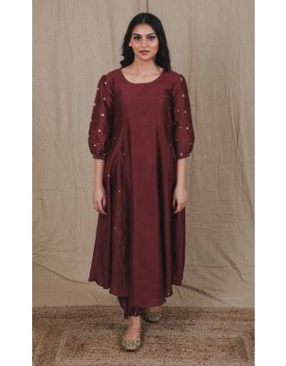 Brown Sequin Kurta Set