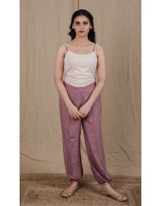 Mauve Cotton Satin Salwar