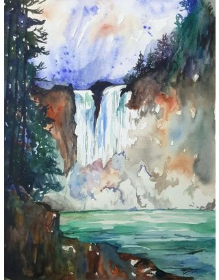 The Mist And The Waterfall Painting