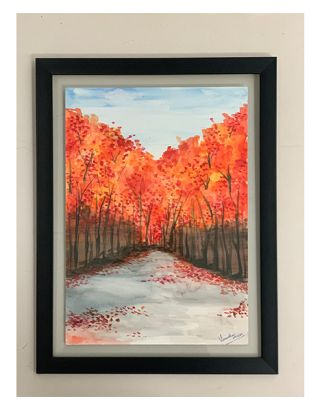 Autumn Fall Water color painting