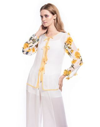 White and Yellow Tunic