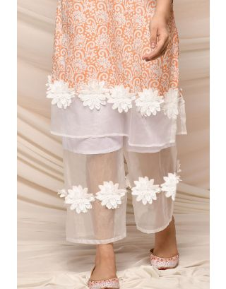 White Organza Pants