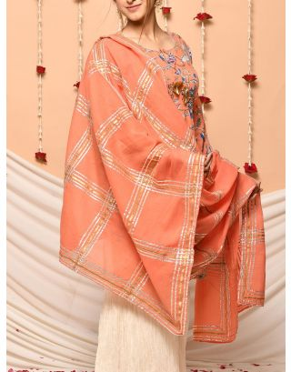 Orange Gota Dupatta