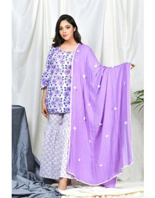 Lavender Sharara Set with Dupatta