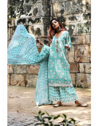 Aqua Green Kurta Set